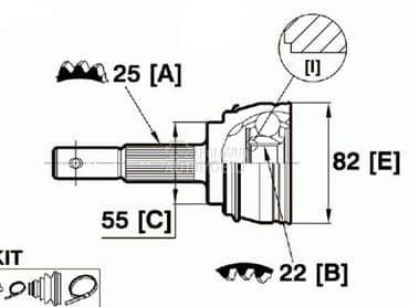Homokineticki zglob1.4 za Nissan Almera od 1995. do 2000. god.