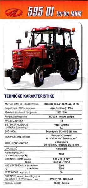 Mahindra 595 DI Turbo