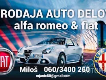 Dizne za Alfa Romeo 147, 156, 159 od 2000. do 2010. god.
