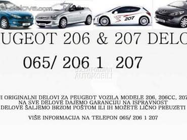 Delovi za Peugeot 206