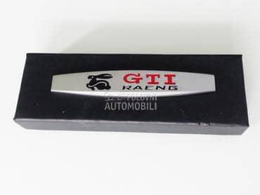 GTI znak metalni za Volkswagen 181, Amarok, Bora ...