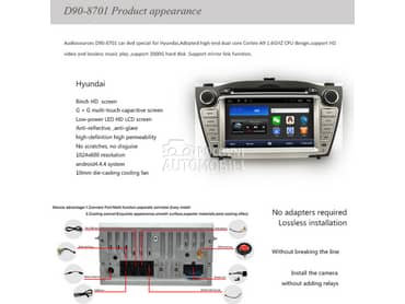 Multimedija, android za Hyundai ix35, Tucson od 2009. do 2013. god.
