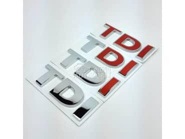 TDI znak metalni za Volkswagen 181, Amarok, Bora ...